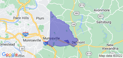Murrysville, Pennsylvania Border Map