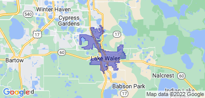 Lake Wales, Florida Border Map