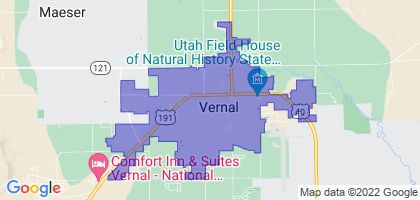 Vernal, Utah Border Map