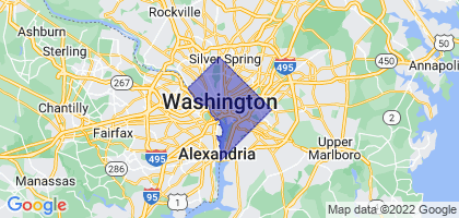 Washington, District Of Columbia Border Map