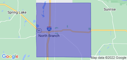 North Branch, Minnesota Border Map