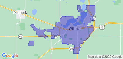 Willmar, Minnesota Border Map