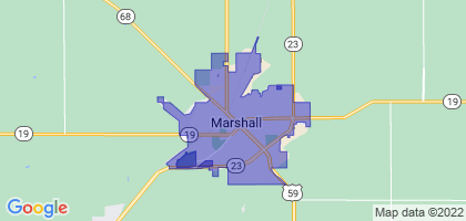 Marshall, Minnesota Border Map