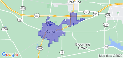 Galion, Ohio Border Map