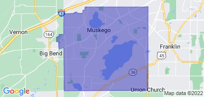 Muskego, Wisconsin Border Map