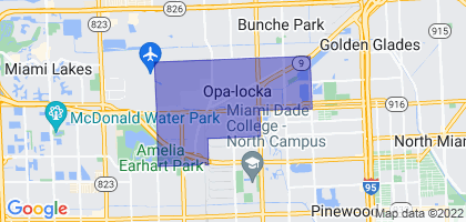 Opa-locka, Florida Border Map