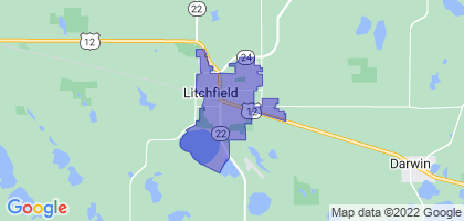 Litchfield, Minnesota Border Map