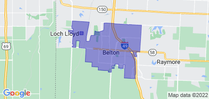 Belton, Missouri Border Map
