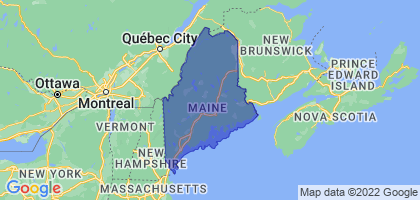 Maine Border Map