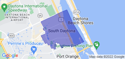 South Daytona, Florida Border Map