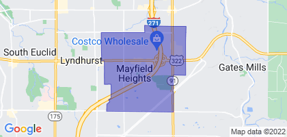 Mayfield Heights, Ohio Border Map