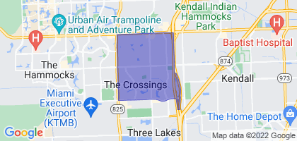 The Crossings, Florida Border Map