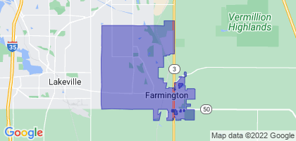 Farmington, Minnesota Border Map