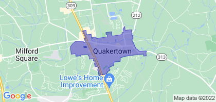Quakertown, Pennsylvania Border Map