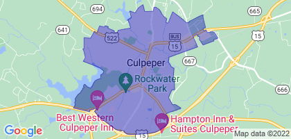 Culpeper, Virginia Border Map