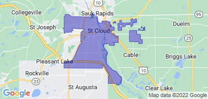 St. Cloud, Minnesota Border Map