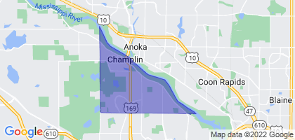 Champlin, Minnesota Border Map