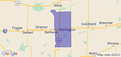 Burlington School District RE-6J, Colorado Border Map