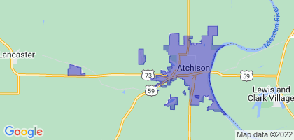 Atchison, Kansas Border Map