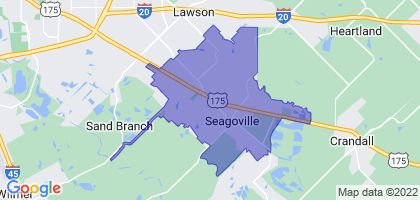 Seagoville, Texas Border Map