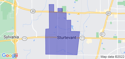 Sturtevant, Wisconsin Border Map