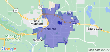 Mankato, Minnesota Border Map