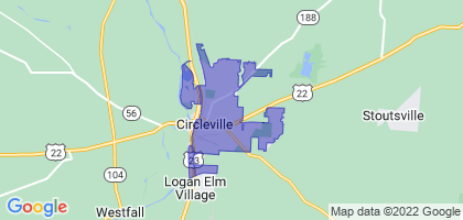Circleville, Ohio Border Map