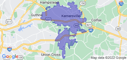 Kernersville, North Carolina Border Map