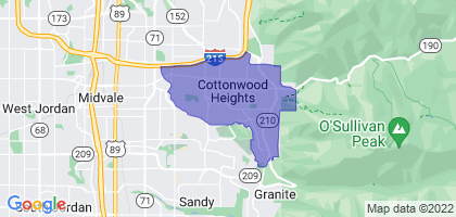 Cottonwood Heights, Utah Border Map