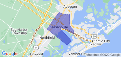 Pleasantville, New Jersey Border Map