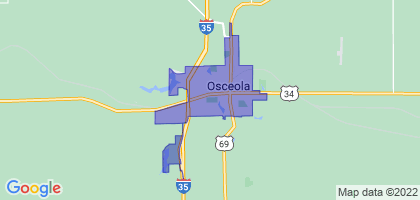Osceola, Iowa Border Map