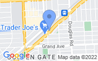 Map of Coral Gables FL