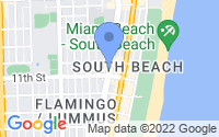 Map of Miami Beach FL