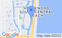 Map of Hallandale Beach FL