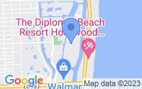 Map of Hallandale Beach FL