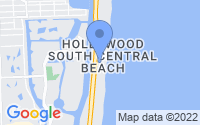 Map of Hollywood FL
