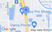 Map of Dania Beach FL