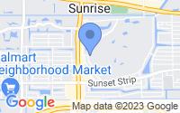 Map of Sunrise FL