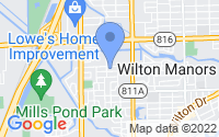 Map of Wilton Manors FL
