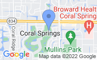 Map of Coral Springs FL