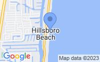 Map of Hillsboro Beach FL