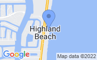 Map of Highland Beach FL