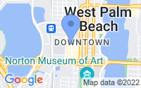 Map of West Palm Beach FL