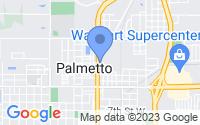 Map of Palmetto FL