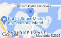 Map of Treasure Island FL