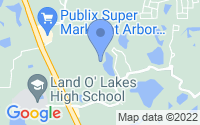 Map of Land O' Lakes FL