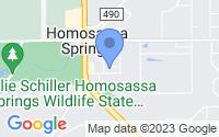 Map of Homosassa Springs FL