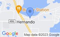 Map of Hernando FL