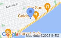 Map of Galveston TX