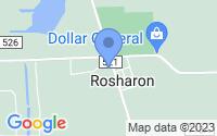 Map of Rosharon TX